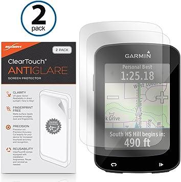 Garmin Edge 820 Protector de pantalla, BoxWave® [ClearTouch Anti-brillos (2- Pack)] antihuellas mate película piel Para Garmin Edge explorar 820, 820, 520: Amazon.es: Electrónica