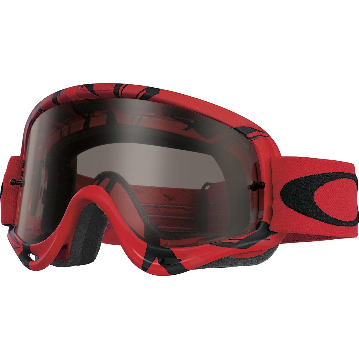 Oakley O-Frame MX Intimidator Goggles (Red/Black Frame/Dark Grey Lens)