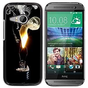 GIFT CHOICE / SmartPhone Carcasa Teléfono móvil Funda de protección Duro Caso Case para HTC ONE MINI 2 / M8 MINI /LIGHT BULB FLAME SMOKE/
