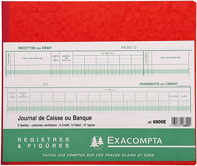 PERP/ÉTUELLE DE CAISSE BROCHE R/ÉF REF EXACOMPTA 38971E