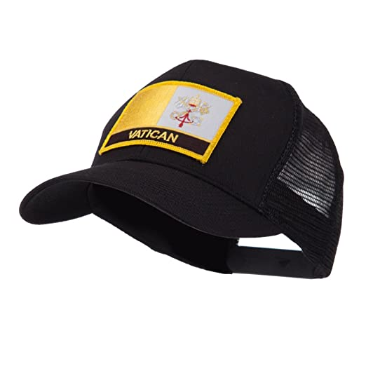 50251a12a67 Europe Flag Letter Patched Mesh Cap - Vatican OSFM at Amazon Men s ...