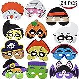 Toys : Joyin Toy 24 Pcs Halloween Party Foam Mask for Kids Halloween Party Games, Halloween Prizes, Halloween Party Supplies