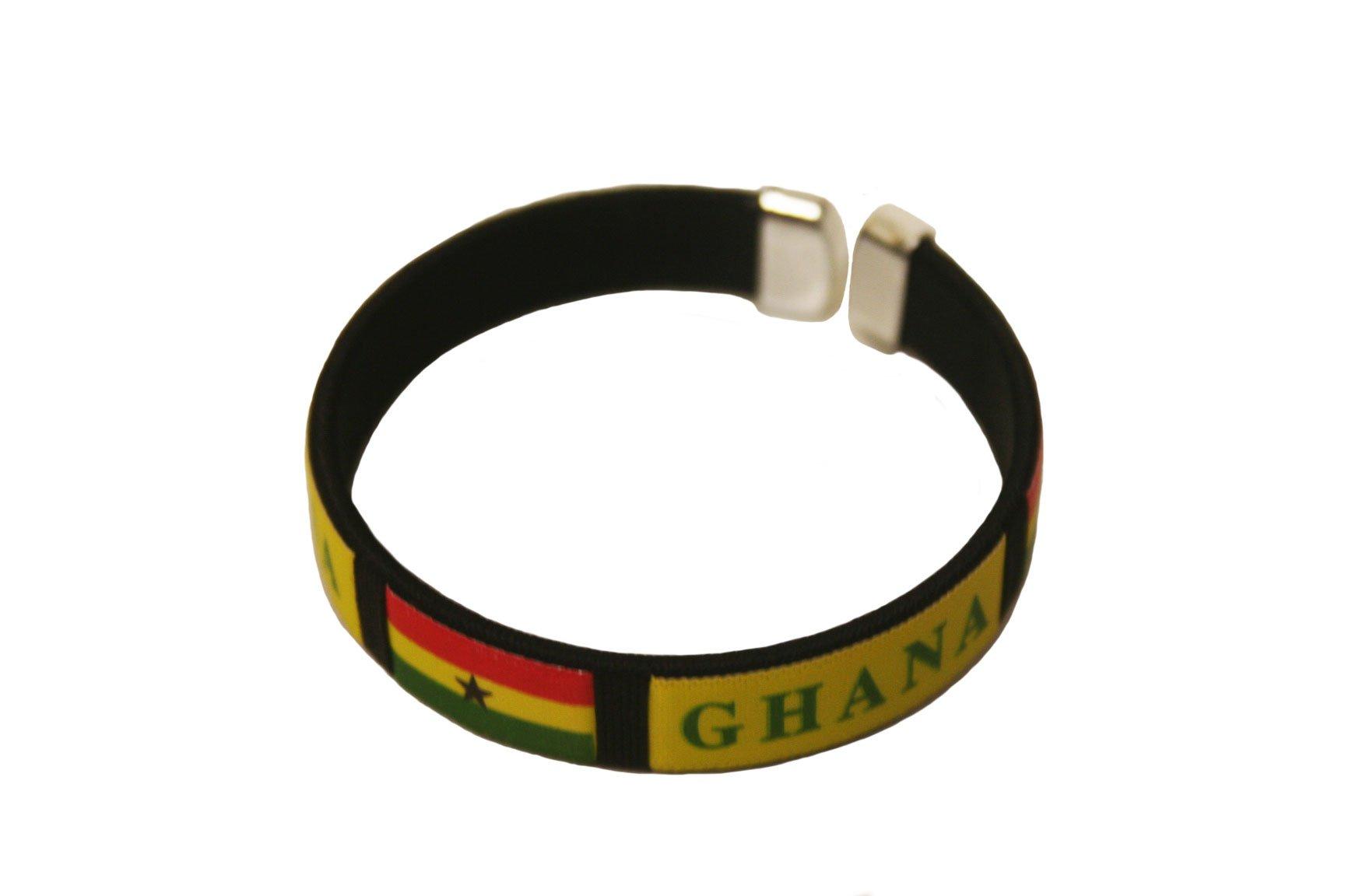 SUPERDAVES SUPERSTORE Ghana Black Country Flag C' Bracelet Wristband. New