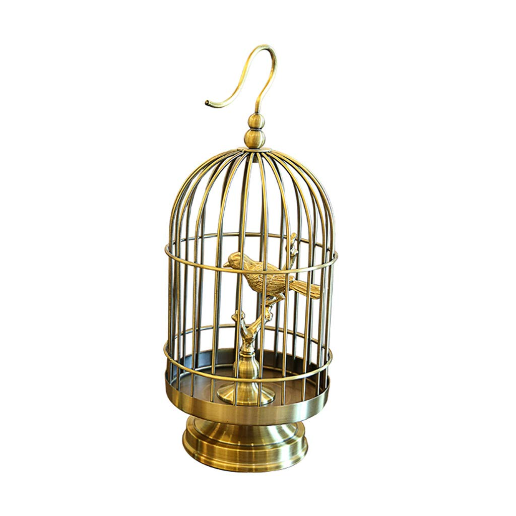 Decorations Home Decor Home Bird Cage Creative Living Room Entrance Ornaments Study Office Accessories Best Gifts (Color : Metallic, Size : L)