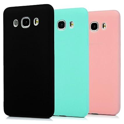 Funda Samsung Galaxy J5 2016, 3Unidades Carcasa Galaxy J5 2016 Silicona Gel, OUJD Mate Case Ultra Delgado TPU Goma Flexible Cover para Samsung J5 ...