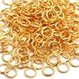 GEM-inside 6mm Gold Plated Open Jump Rings For Jewelry Making Findings