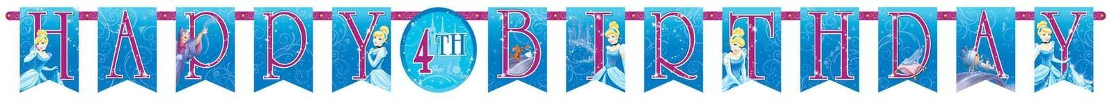 Amscan Disney Cinderella Customizable Birthday Party Banner Decoration (1 Piece), Blue, 10 1/2' x 10''. by Amscan