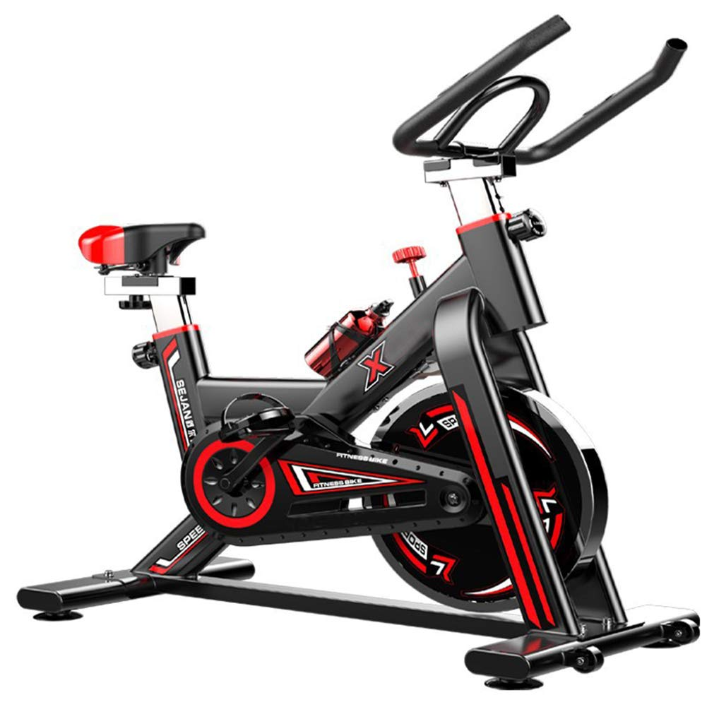 FMTMY Fitness Indoor-Radsport Trainer Übung Spinning Bike-Professionelles Übungs Fahrrad Stationäres Fahrrad Für Home-Cardio-Fitness-Training, Fahrrad-Flaschenhalter, Stationär