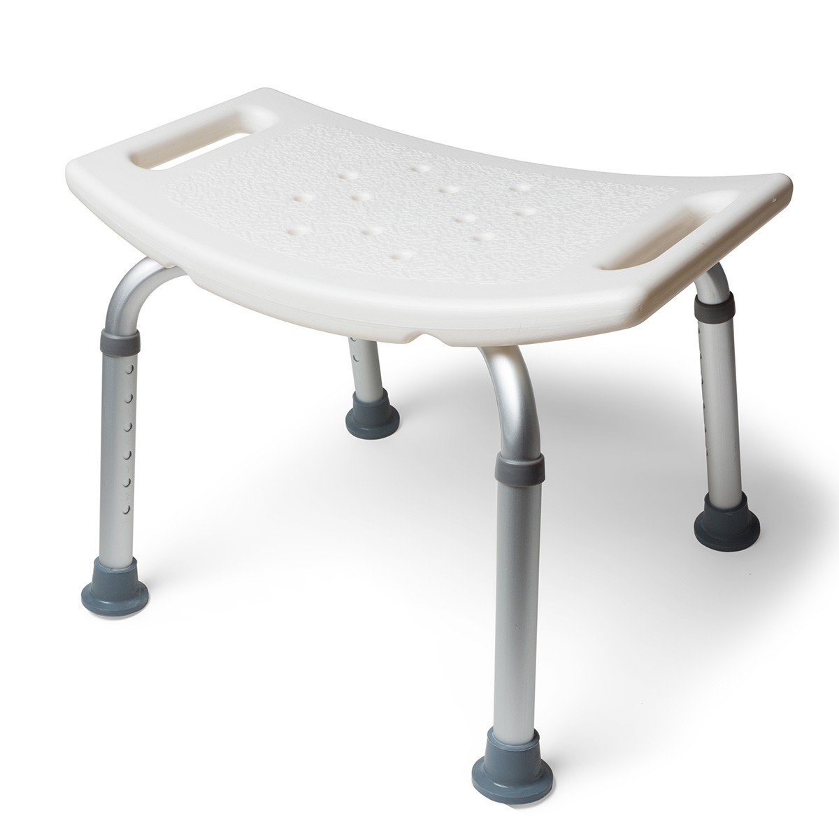 free shipping MedMobile Aluminum Bath Tub Shower Chair with Handles and  Drainage Holes