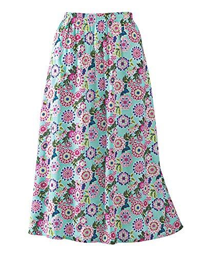 National Challis Skirt, Harbor Mist, Petite - National Harbor