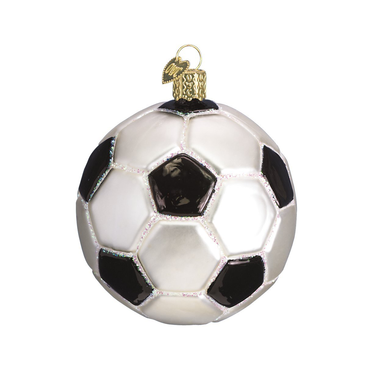 Amazon.com: Old World Christmas Soccer Ball Glass Blown Ornament ...