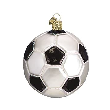 separation shoes d7d43 f57d1 Old World Christmas Ornaments: Soccer Ball Glass Blown Ornaments for  Christmas Tree