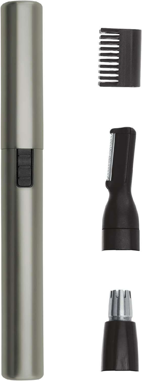 Wahl 5640-1016 - Recortadora para oreja, nariz y ceja, color plata satinada