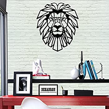 DEKADRON Metal Wall Art - Lion Head - 3D Wall Silhouette Metal Wall Decor Home Office Decoration Bedroom Living Room Decor Sculpture (14