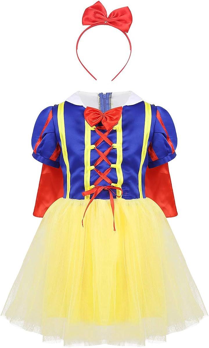 Freebily Vestido Princesa Blancanieves Carnaval Disfraz fantasía ...