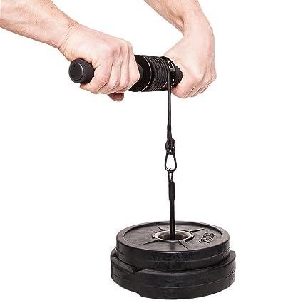 PELLOR Unterarmtrainer Hochwertiger Handgelenktrainer Gewichts Sammlungs Gurt Arm Trainings zum Gewichterollen Eignungs Ausr/üstung