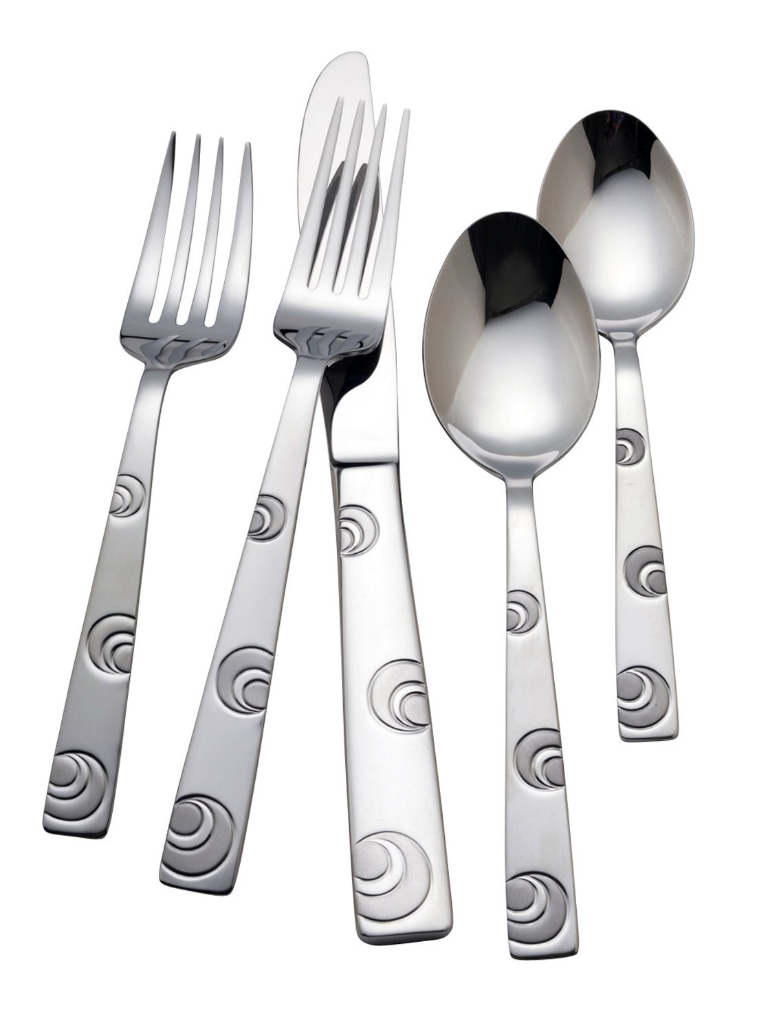 R+B Everyday Omni 18/0 Stainless Steel 45 Piece Flatware Set, Service for 8 ''Discontinued by Manufacturer'' by Reed & Barton