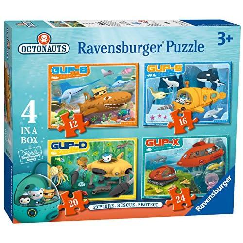 Ravensburger 7022Octonauts Véhicules 4dans une boîte Puzzles–12, 16, 20et 24pièces
