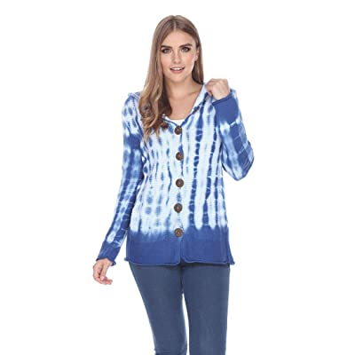 Pure HANDKNIT Women's 100% Cotton Jacket Female Long Sleeve Knit Cardigan with Contrasting Buttons and Hoody: Clothing