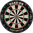 Viper Dead On Sisal/Bristle Steel Tip Dartboard with Staple-Free Bullseye