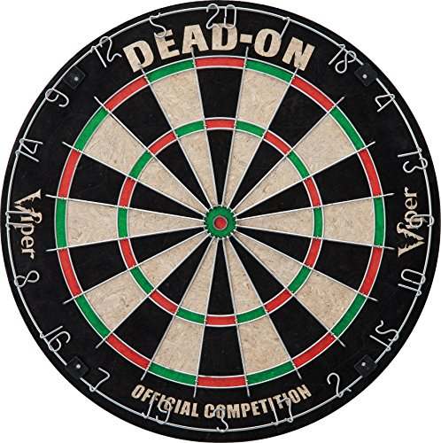 (Viper by GLD Products Viper Dead On Sisal/Bristle Steel Tip Dartboard with Staple-Free Bullseye)