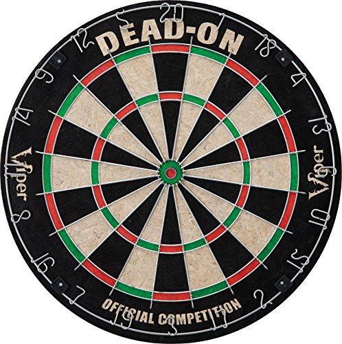Viper Dead On Sisal/Bristle Steel Tip Dartboard with Staple-Free Bullseye