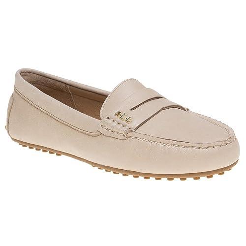 Lauren by Ralph Lauren - Mocasines de Piel para Mujer marrón Size: *: Amazon.es: Zapatos y complementos