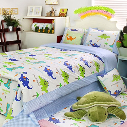 fadfay home textile dinosaur bedding sets anime bed sheets set cute kids queen size cartoon. Black Bedroom Furniture Sets. Home Design Ideas