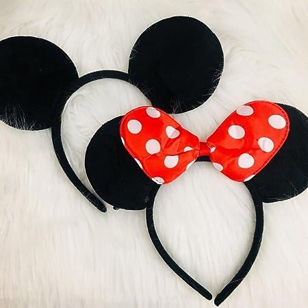 CLGIFT Minnie Mouse Ears Diadema Niños Cumpleaños Fiesta ...