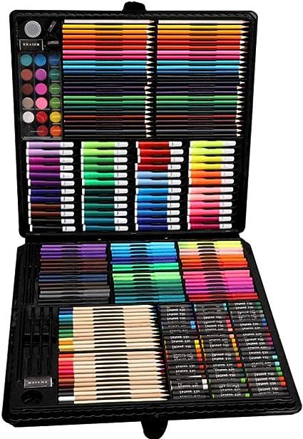 AYUE® 288 Pcs Artista Estuche de Almacenamiento de Arte con Artículos para Dibujar, Dibujar, Pintura, Acrílico, Pasteles, Cepillos: Amazon.es: Oficina y papelería