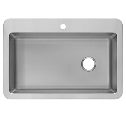 Zuhne 33 X 22 Inch Dual Mount (Over Mount Or Under Mount) Single Bowl