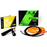 Crossrope Starter Set - Get Fit Fast with Best Jump Rope Workout - Patented Weighted System - Improve Strength and Agility - Includes Lightweight Speed Rope and Heavyweight Jump Rope