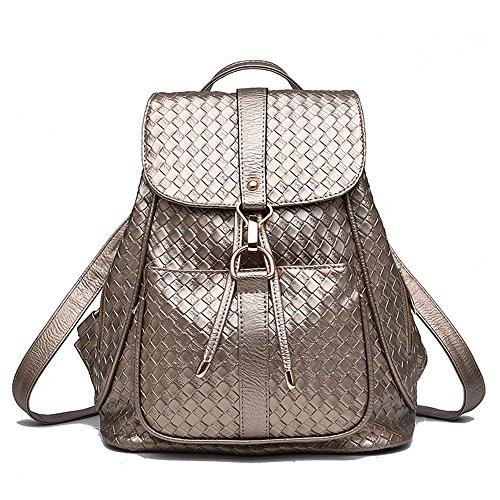 Tibes Mochila impermeable mochila de nylon de moda para las niñas A oro