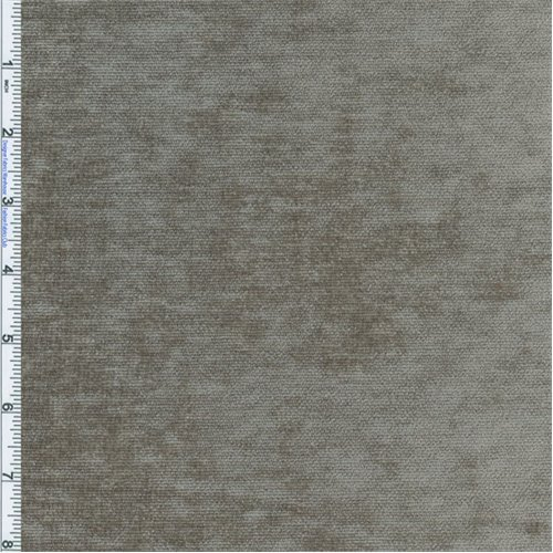 (Pewter Grey Designer Palermo Velvet Chenille Home Decorating Fabric, Fabric By the Yard)