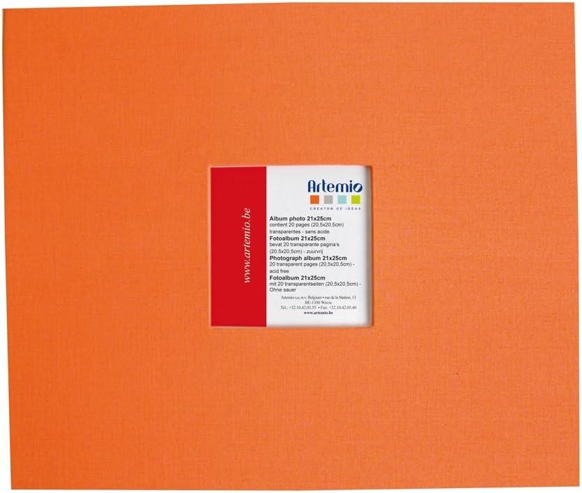 Art/émio Album avec fen/être 215 x 255-20 Pochettes Orange