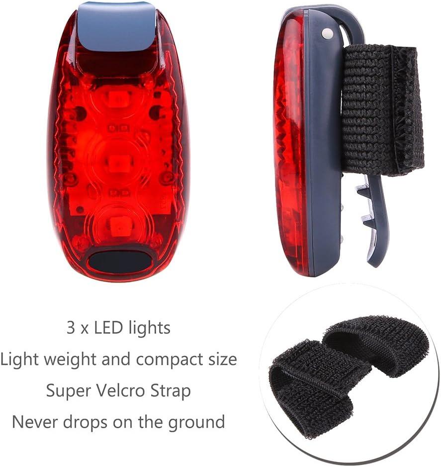 + en bonus lumi/ère haute visibilit/é clignotant /à clipser pour le jogging Feux de s/écurit/é LED les casques de v/élo lot de 3 le v/élo les promenades
