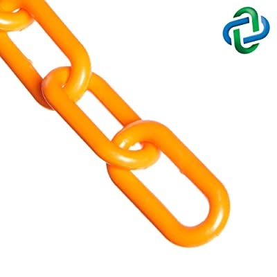 Mr. Chain Plastic Barrier Chain, Safety Orange, 2-Inch Link Diameter, 10-Foot Length (50012-10): Industrial & Scientific