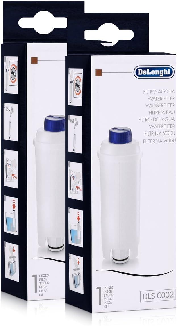 Amazon.com: DeLonghi Filtro de agua DLS C002 Pack (x2) para ...