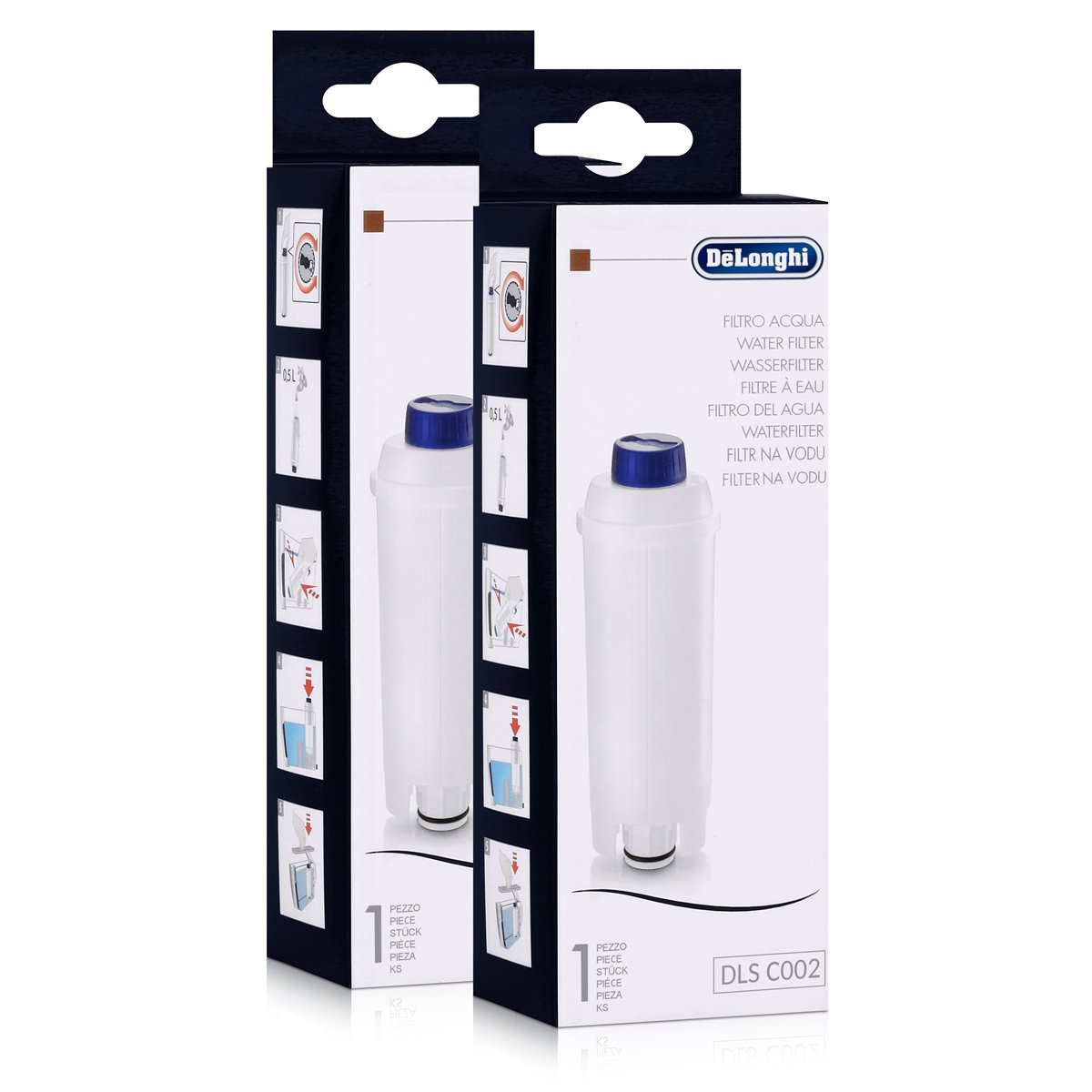 DeLonghi Water Filter DLS C002 Pack (X2) Espresso Bean to Cup Machines