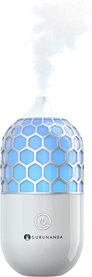 GuruNanda Essential Oil Diffuser- 90ml Honeycomb Aromatherapy Ultrasonic Diffuser, Cool Mist Humidifier with 7 Color LED Ligh