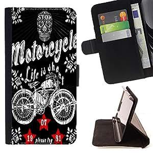 King Case - FOR Samsung Galaxy S6 EDGE - let me say - Prima caja de la PU billetera de cuero con ranuras para tarjetas, efectivo Compartimiento desmontable y correa para la mu?eca