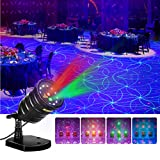 Suaoki Christmas Laser Light Outdoor Projector Motion Star Light Show with Red/Green Laser & Blue/Purple LED Light, Remote Control, Timer, IP65 Waterproof for Holiday Xmas Decorations Party Garden