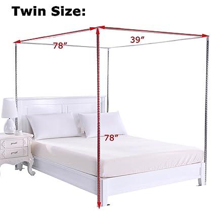 Amazon Com Obokidly Thinken 4 Corner Stainless Steel Bedding Canopy