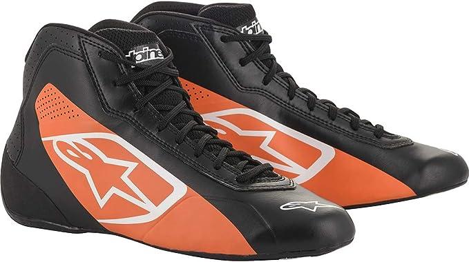 Alpinestars 2711518-12B-4.5 Tech 1-K Start Shoes Black//White Size 4.5