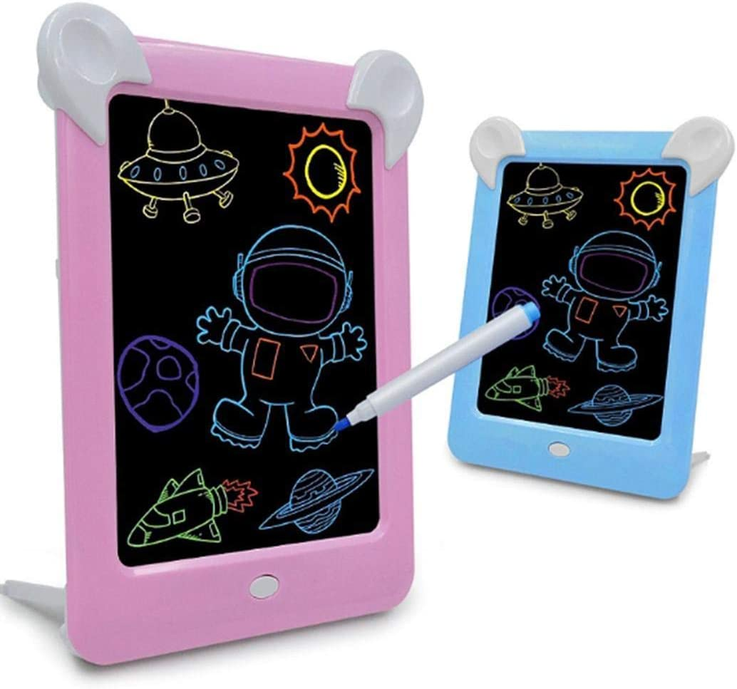 CINUE LED Drawing Board Children Fluorescent Paingting Graffiti Glowing Sketchpad Graphics Tablets