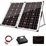 12V 250W Folding Solar Panel Kit Battery 12-24 Volt Charge Power Mono