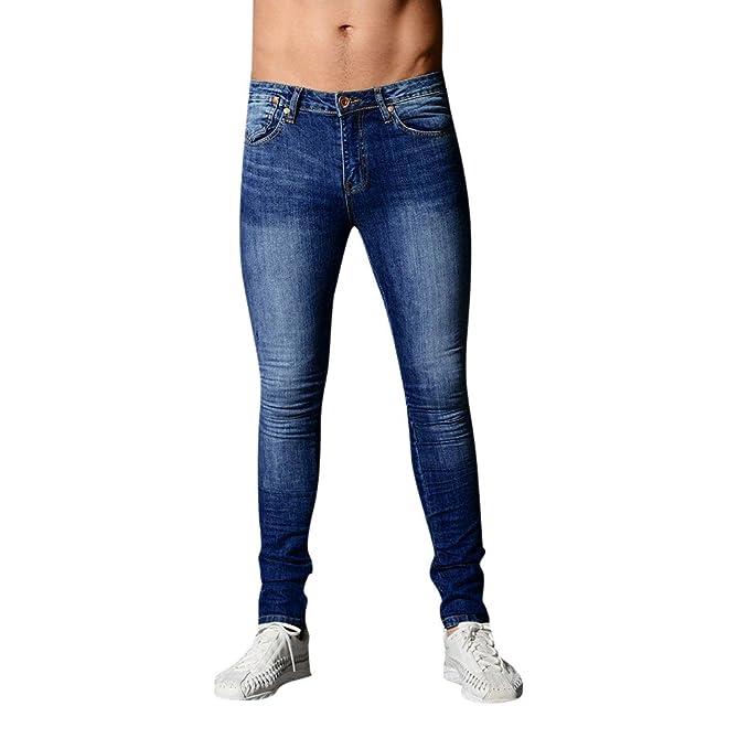 Pantalones Vaqueros Ajustados Pitillo para Hombre Pantalones ...