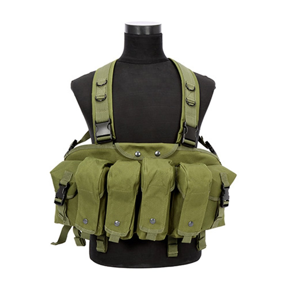 Green Tactical Vest Military Airsoft Paintball Vest Lightweight Molle Vest