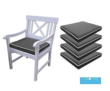 memory foam garden chair cushion seat pad qty of 1 2 3 4 5 6