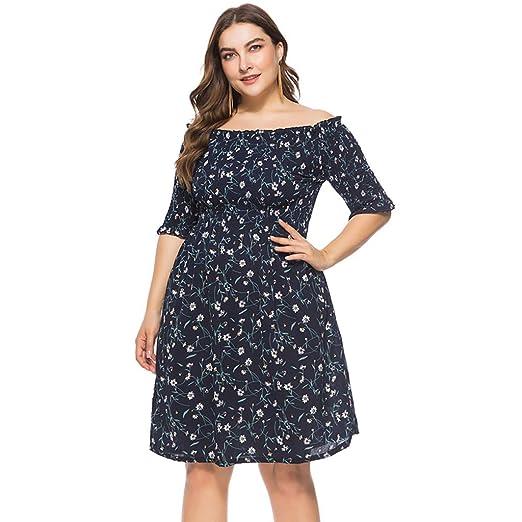 Amazon.com: Riverdalin Women Plus Size Dress Ladies Summer ...